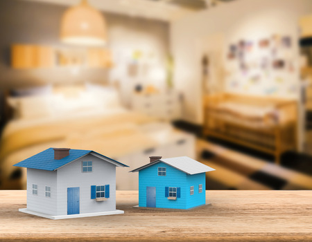 3d rendering mock up house with interior background Stock Photo