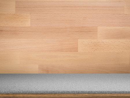 granite countertop: granite countertop on wooden background
