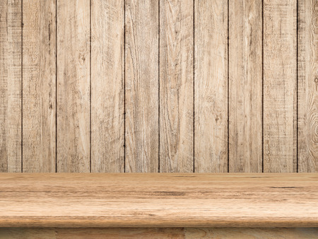 wooden countertop on wooden background