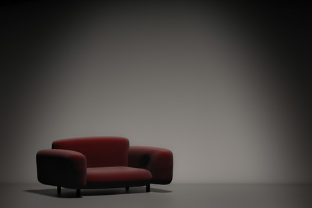 leather sofa: 3d rendering leather sofa for interior decoration Stock Photo