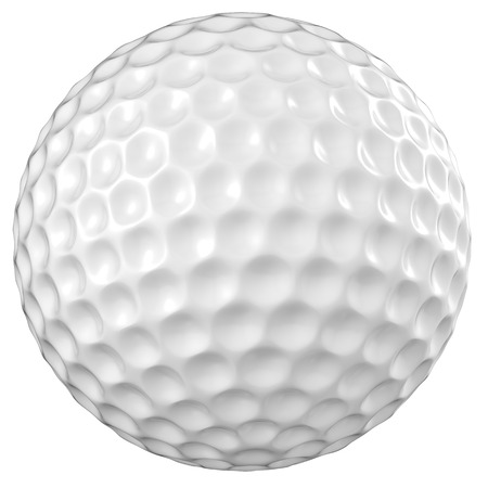 3d ball: 3d rendering golf ball isolated on white