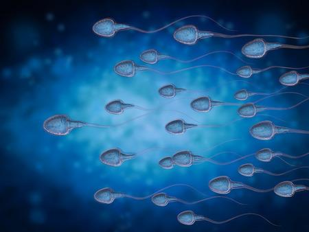 grupo de representación 3D de espermatozoides