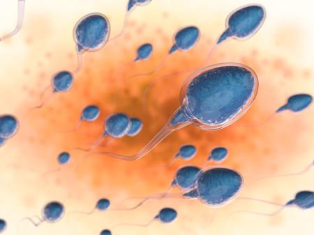 精子の 3 d レンダリング グループ 写真素材