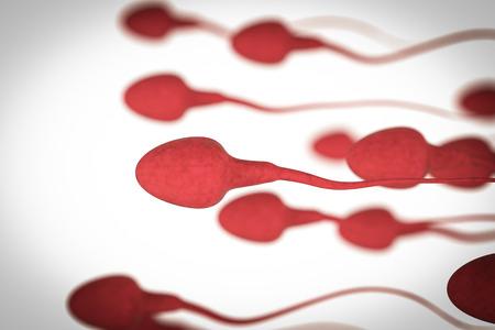 Grupo de renderização 3D de espermatozóides