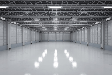 3d Rendering Empty Factory Interior Or Empty Warehouse Stock Photo    70119193