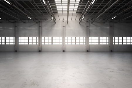 3d rendering empty factory interior or empty warehouse Reklamní fotografie - 70119202