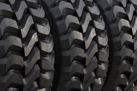 pisar: 3d rendering black tire texture or tread pattern background
