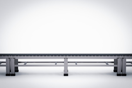 3d rendering rubber conveyor belt on white background