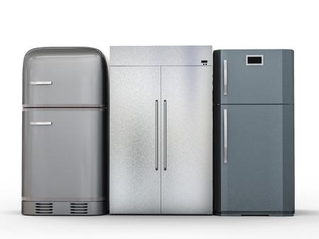 Retro Kühlschrank Günstig : Retro kühlschrank auf weißem hintergrund aus seitenansicht