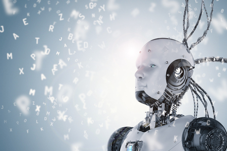 3D 렌더링 로봇 학습 또는 기계 알파벳 학습