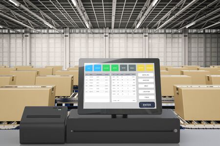 3d rendering inventory management system for factory