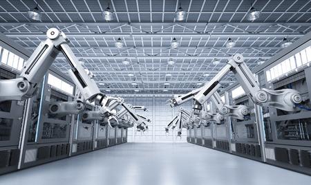 3d rendering robotic machines with conveyor line