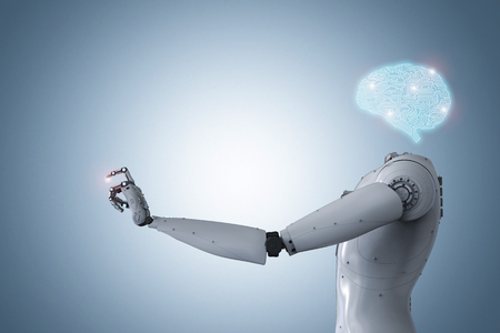 3d 렌더링 인공 지능 두뇌 또는 인공 두뇌 스톡 콘텐츠