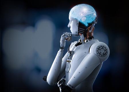 3 d レンダリング人工知能脳や ai 脳