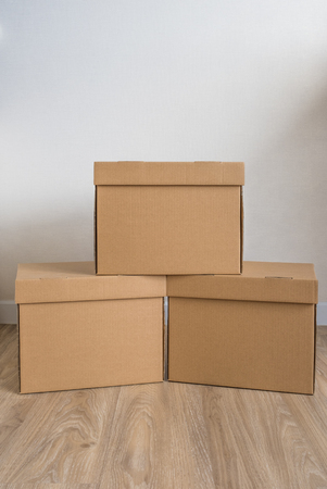 heap of cardboard boxes or carton boxes with lid