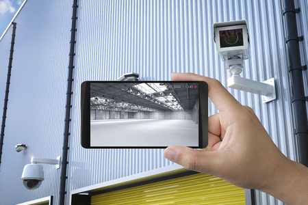 3d rendering mobile connect with security camera