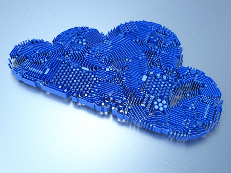 3d rendering circuit cloud for cloud computing technology
