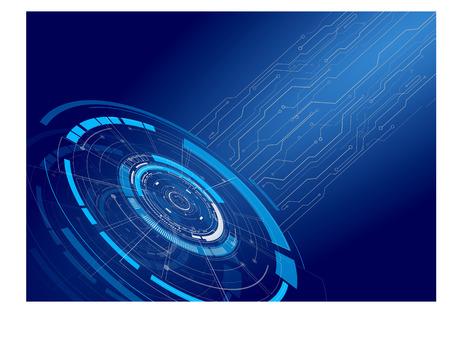 Hud interface on blue background vector illustration