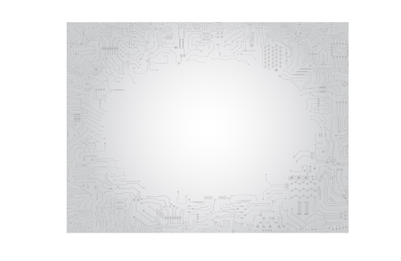 Circuit board frame on grey background vector illustration.