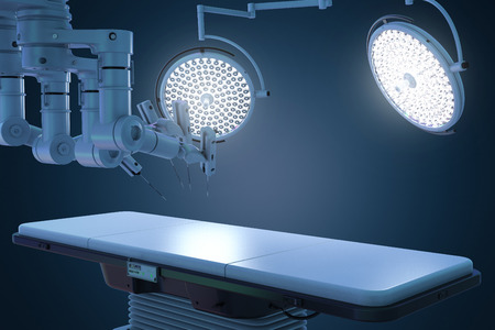 3d rendering surgery room with robotic surgery machine  Фото со стока