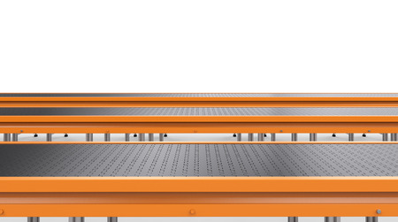 3d rendering empty conveyor line on white background Stock Photo