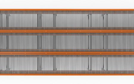 3d rendering empty conveyor line top view
