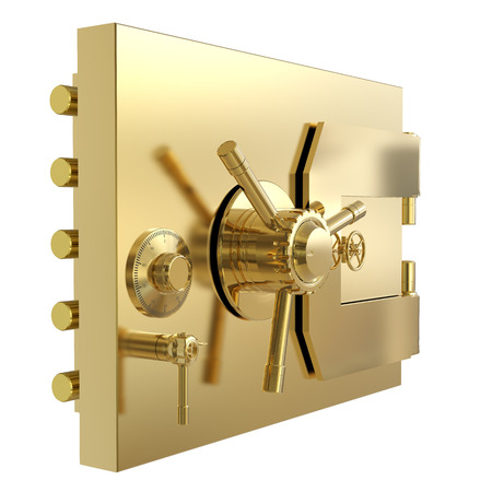 3d rendering bank safe or bank vault isolated