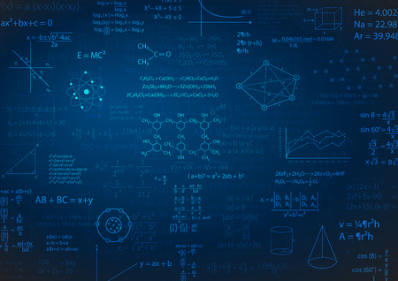 Fórmula matemática o ilustración de vector de fondo de educación