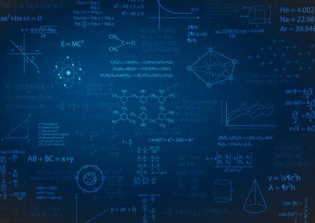 Matheformel oder Bildung Hintergrund Vektor-Illustration