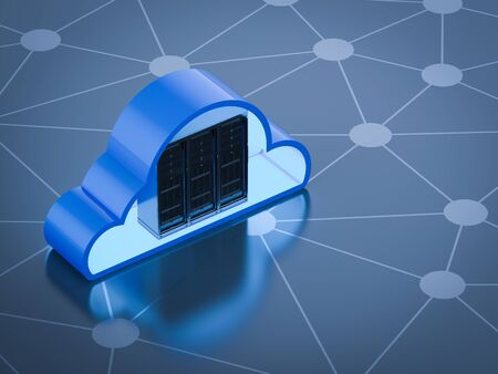 Cloud computing technology with 3d rendering server with cloud