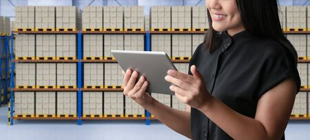 Warehouse or logistic system management with digital tablet