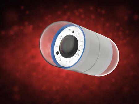 3d rendering capsule endoscopy in abdomen