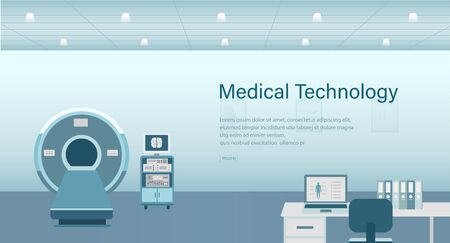 Medical banner with medical technology concept vector illustration