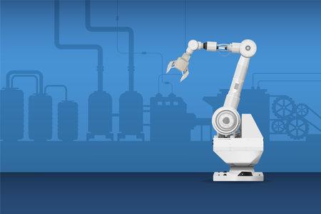 White robot arm on white background vector illustration Ilustracja