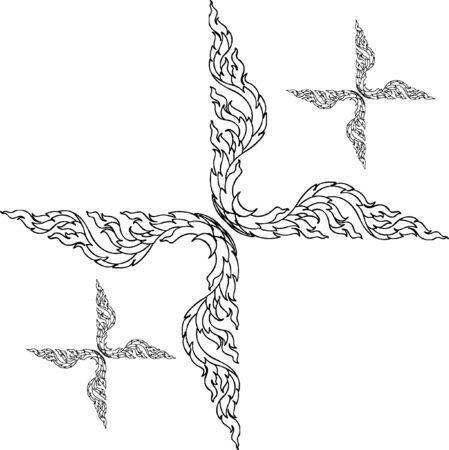 thai motifs: The Thai motifs