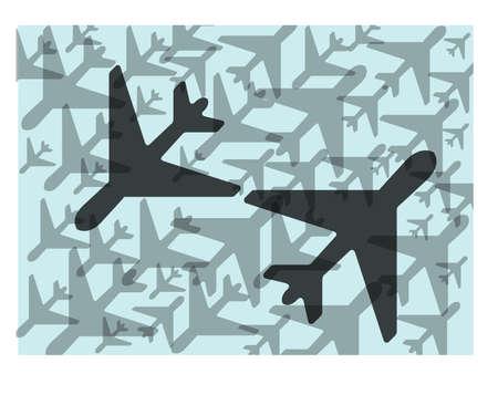 air traffic: El tr�fico en el aire Vectores