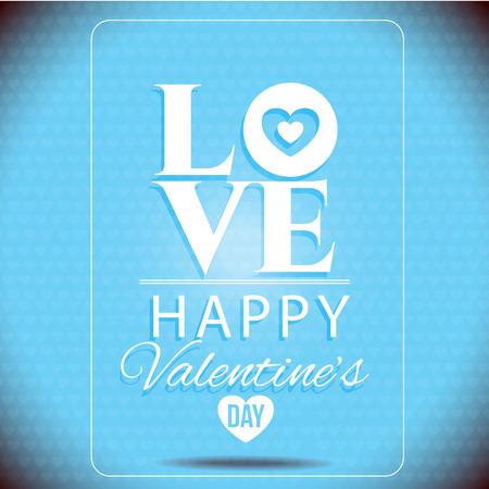 valentin: Vector - LOVE Happy Valentines day