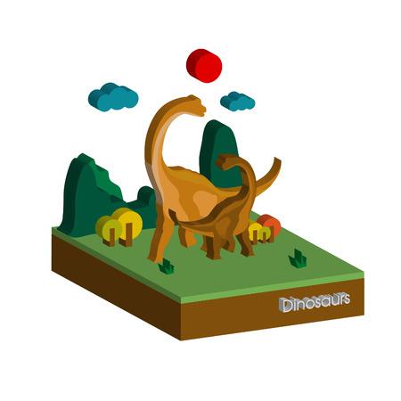 The Dinosaur 3D Illustration