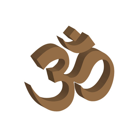 tantra: The Om symbol design Illustration