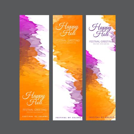 Happy Holi festival of colors vector design , celebration concept design