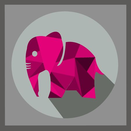 Vector - image of an elephant on a background