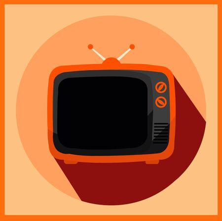 xxl icon: Vector - Vector retro TV XXL icon Illustration