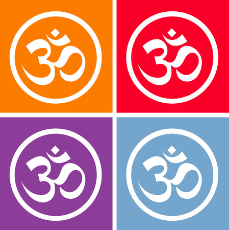 sanskrit: The Om set vector design