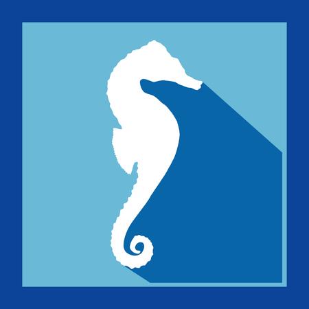zeepaardje vector.