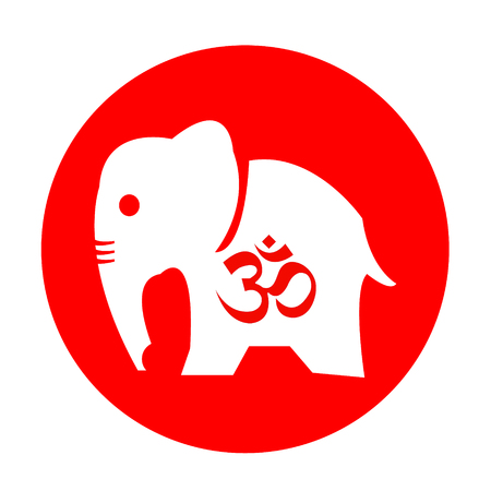 om: The Om and elephant vector design Illustration