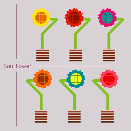 sun flower: sun flower set design