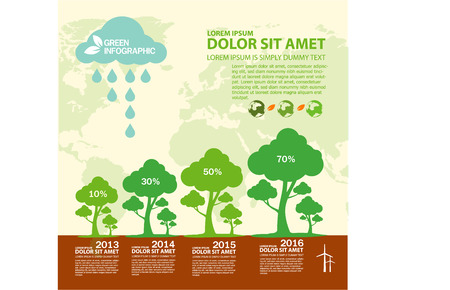 water concept: Ecology Infographic