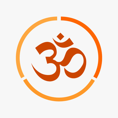 sanskrit: The Om set vector design