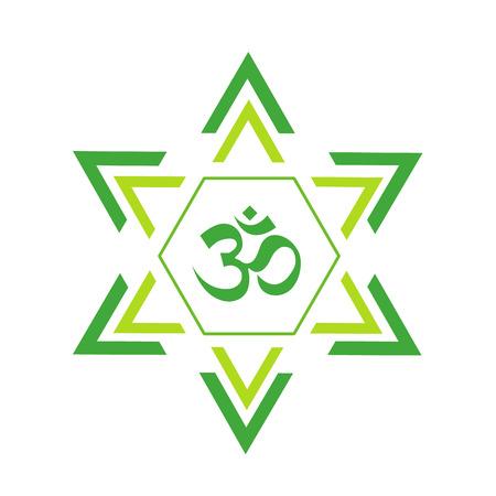 sanskrit: The Om vector design
