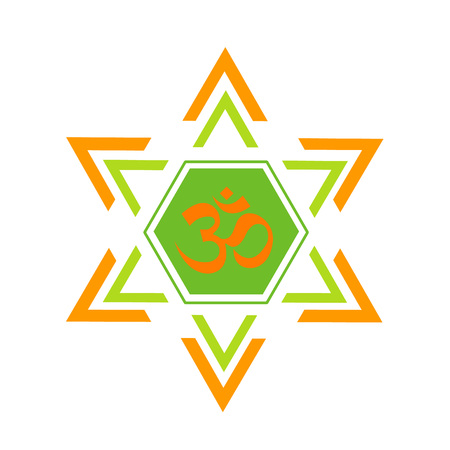 sanskrit: The Om vector design